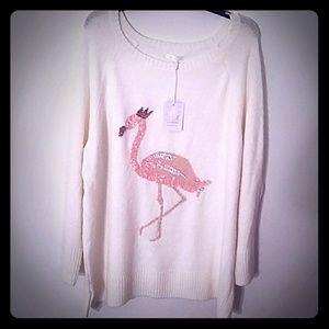 🆕LC LAUREN CONRAD FLAMINGO SWEATER